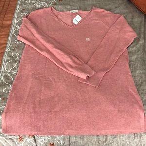 NWT Loft Textured Sleeve Tunic Sweater